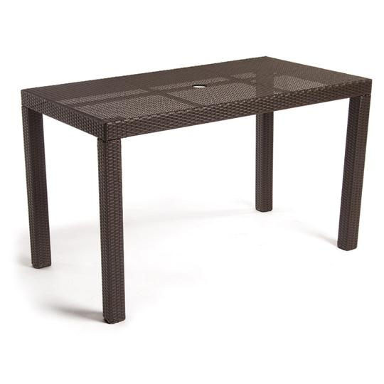 Barbados Dining Table W/ Tempered Glass Top