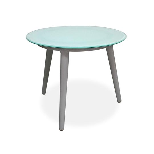 Cancun Side Table W/ Tempered Glass Top