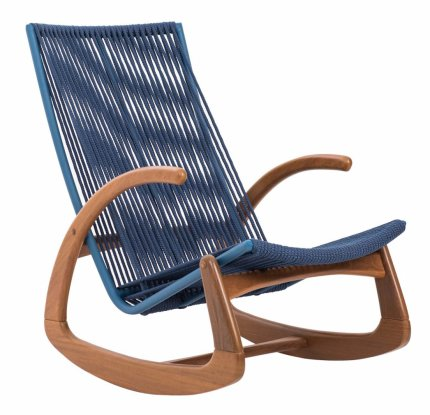 Rocking Chair Turin Rope - Blue
