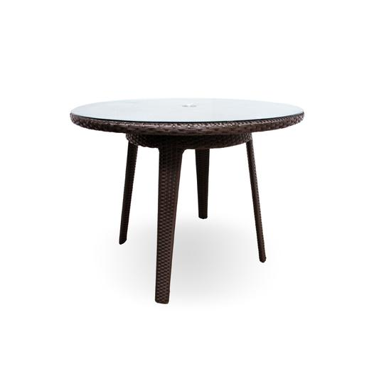 Senna Round Dining Table W/ Tempered Glass Top