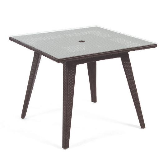 Senna Square Dining Table W/ Tempered Glass Top