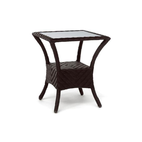Terraza Side Table W/ Tempered Glass Top