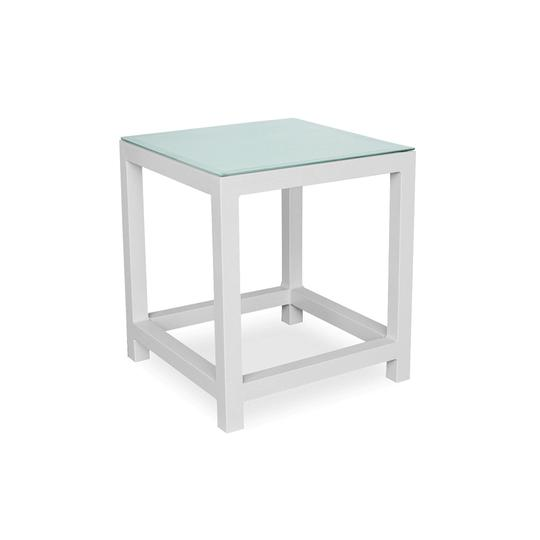 Toledo Side Table W/ Tempered Glass Top