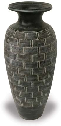 Tall Vase with Weave Pattern