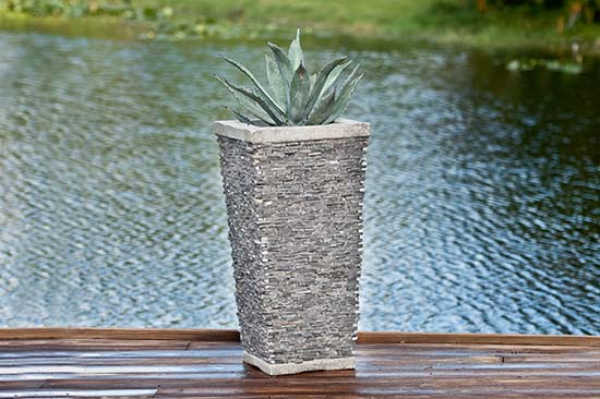 Slate Tall Square Planter