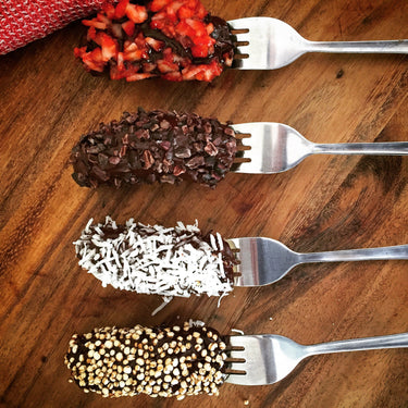 Chocolate Coated Bananas with Mixed Toppings