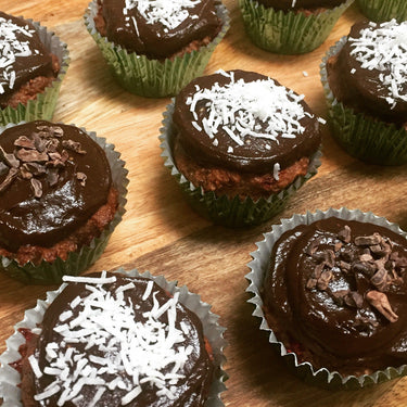 Choc Berry Cupcakes with Avocado Frosting