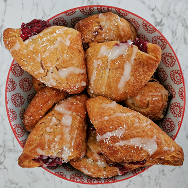 Vegan Raspberry Turnovers