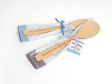 Wooden Spoon with Towel