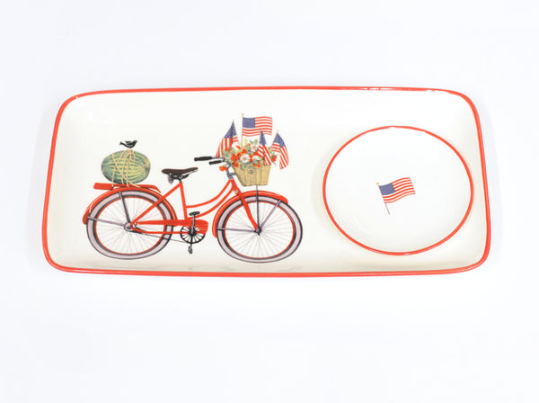 Patriotic Plate and Trinket Dish