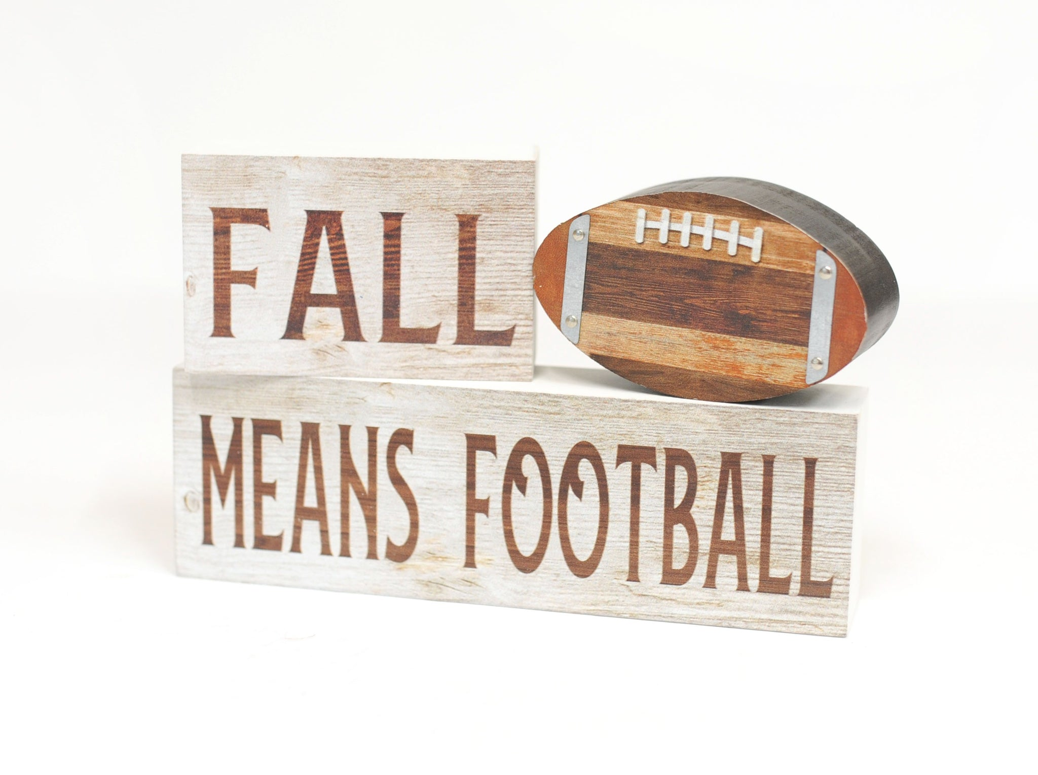 3-piece Fall Means Football Sign