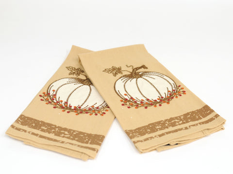 Pumpkin Kitchen Towels