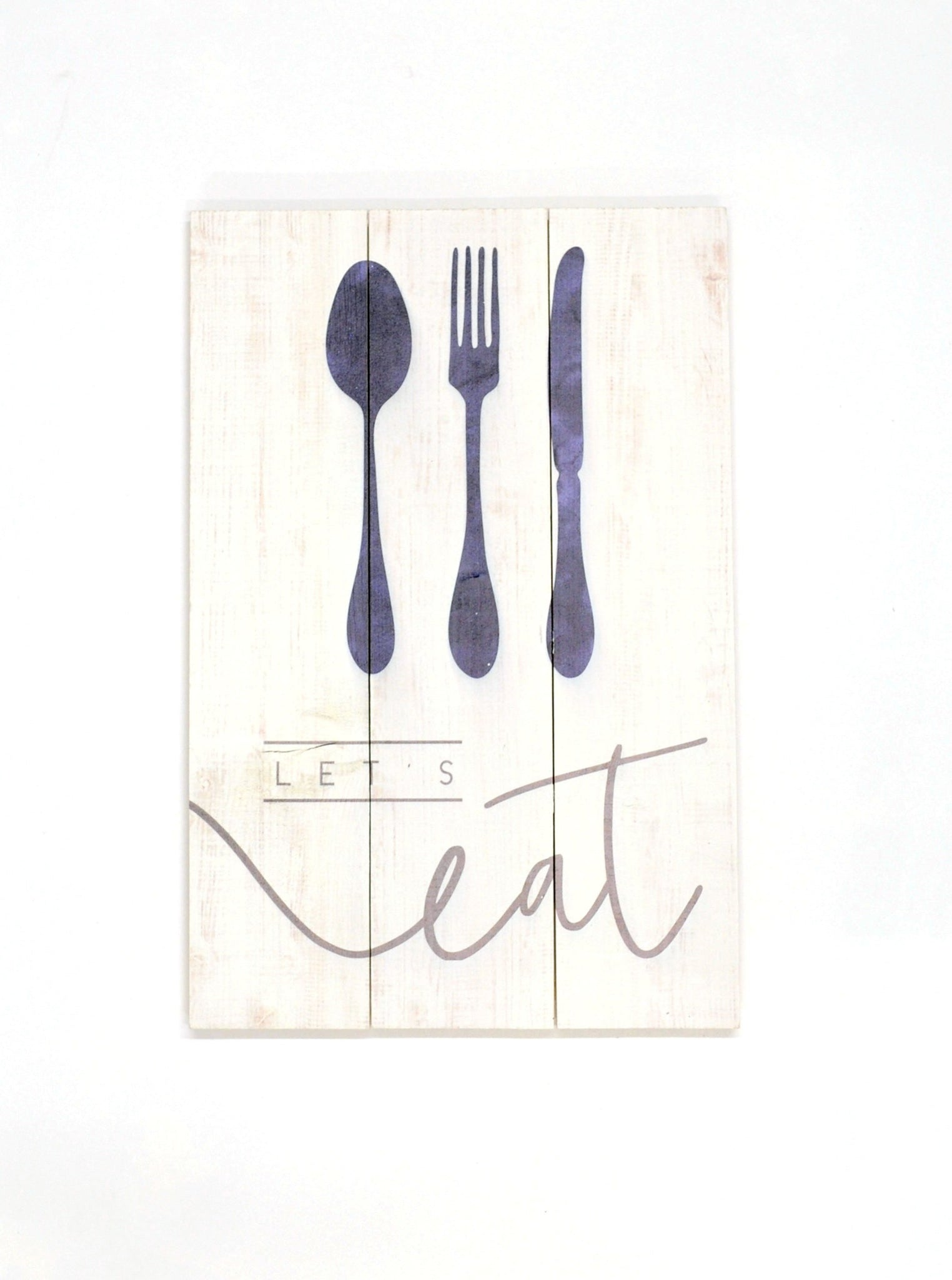 Let's Eat Wooden Sign