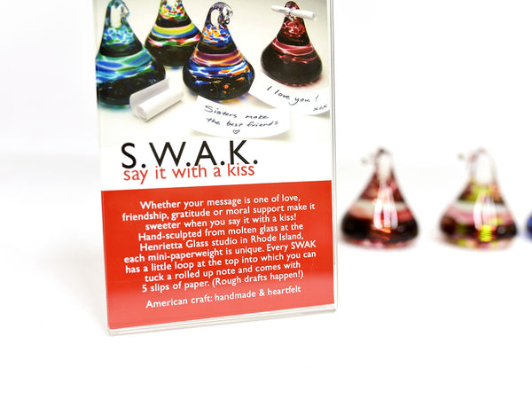 SWAK Glass Paperweights