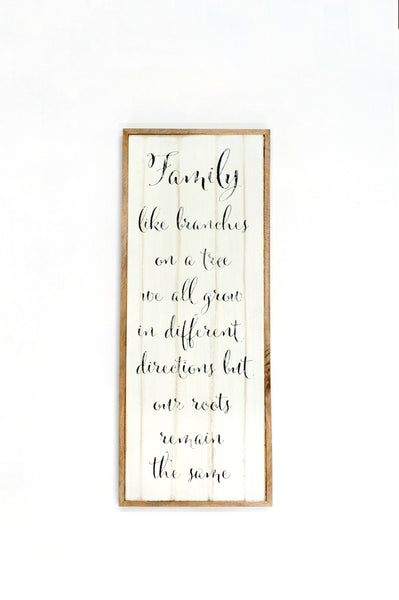 "Large Wooden ""Home"" and ""Family"" Wall Sign"