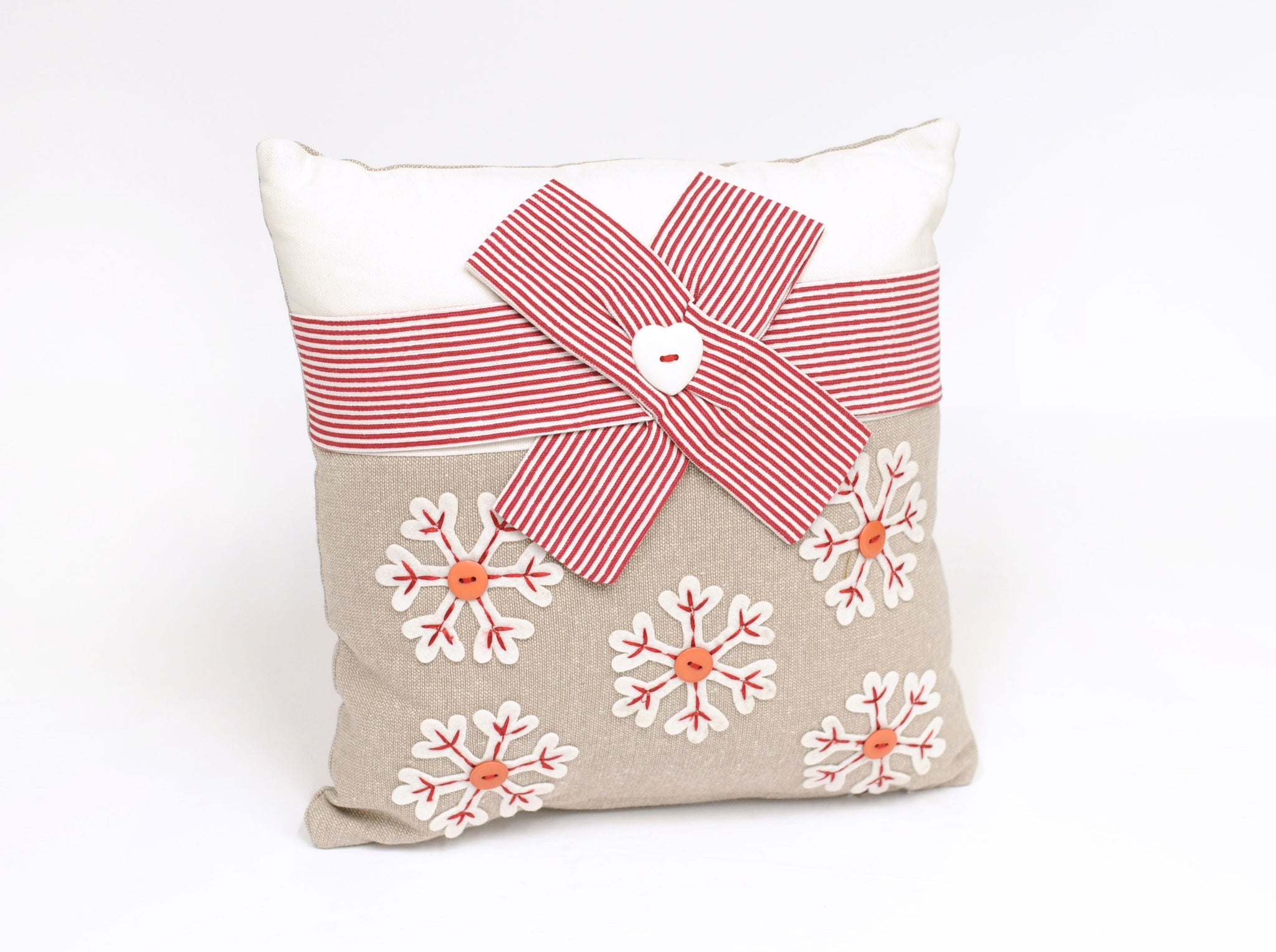 Snowflake Bow Pillow