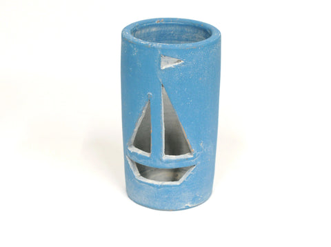 Clay Sailboat Pot