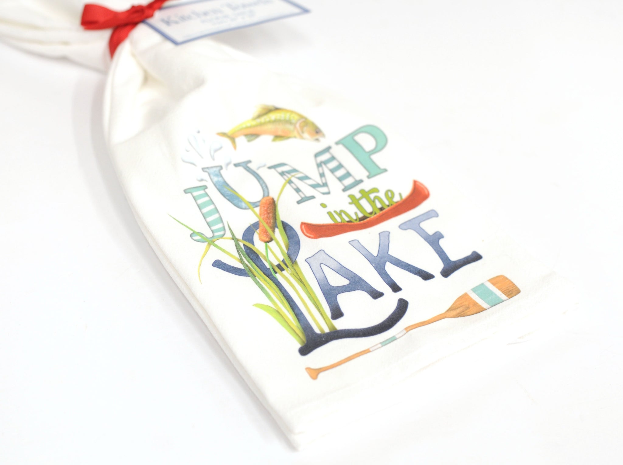 Lake Life Flour Sack Kitchen Towels