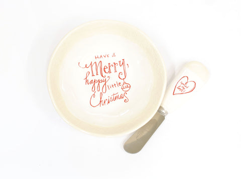 Merry Dish with Spreader