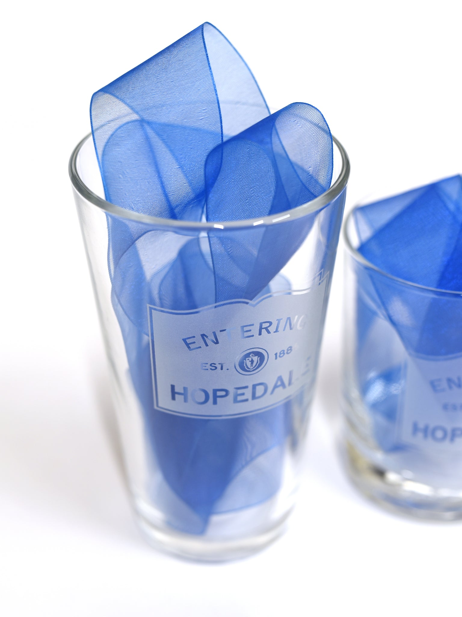 Etched Hopedale Glasses