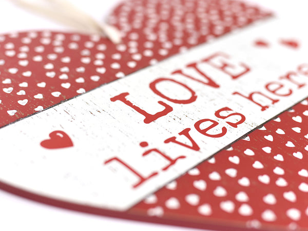 Love Lives Here Large Heart