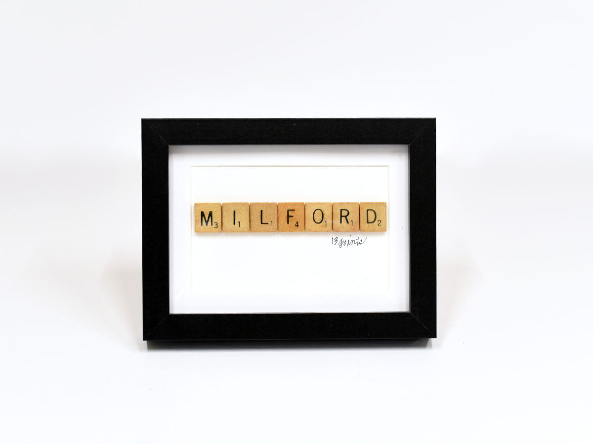 Milford Scrabble Sign