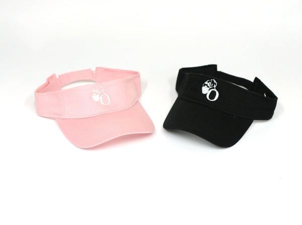 Pink and Black Visors