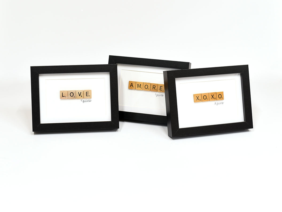Valentine Themed Scrabble Signs