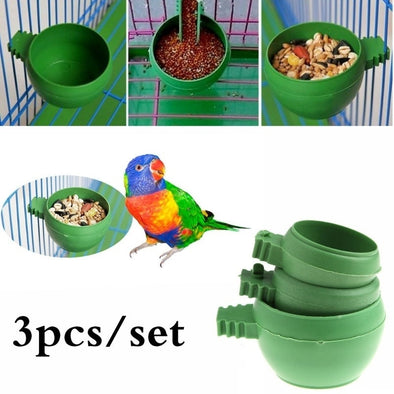 3 Pcs/set Mini Bird Food Bowl