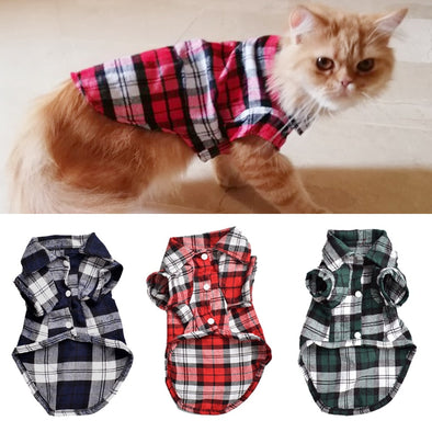 Classic Plaid Cat Clothes
