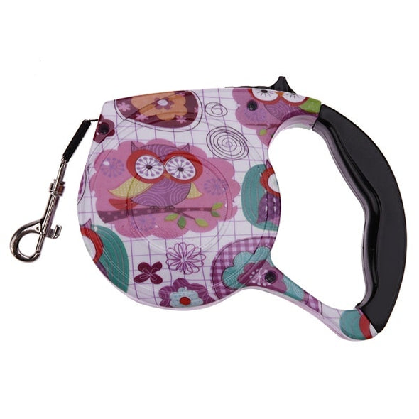 5M Retractable Floral Print Dog Leash