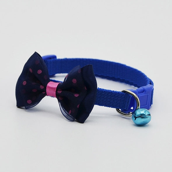 Pet Collars with Bowknot and Bells