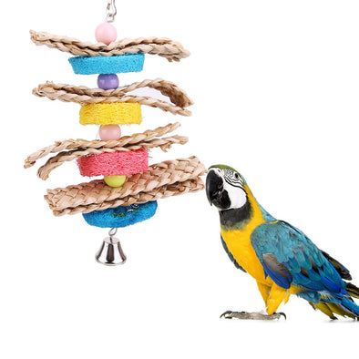 Bird Hanging Chewing Toy with Bell