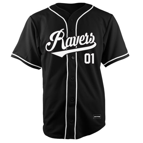 RAVERS Black Baseball Jersey
