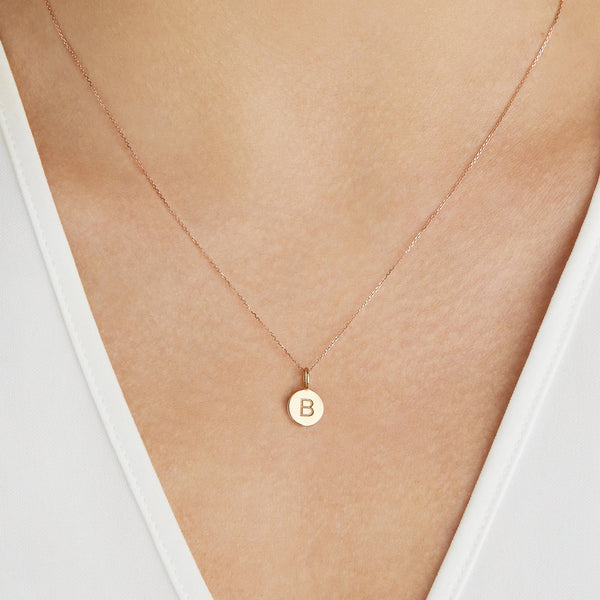 Gold Small Personalised Disc Necklace
