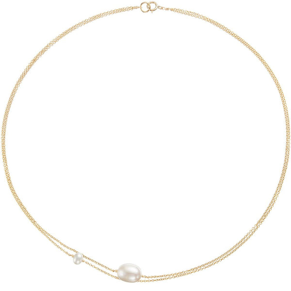 Gold Layered Large and Small Pearl Choker