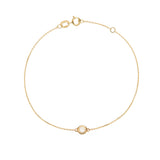 Solid Gold Floating Diamond Bracelet