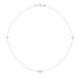 Silver Six Pearl Choker Necklace