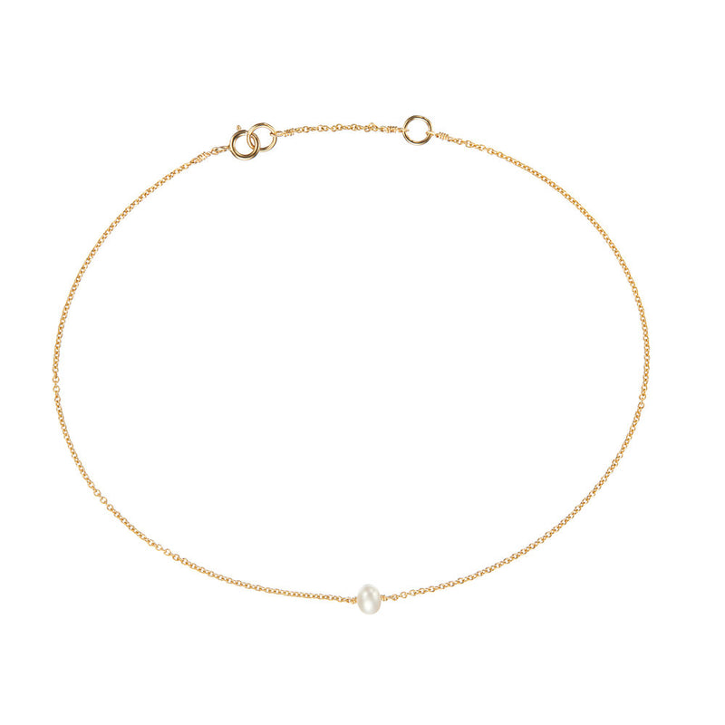 Gold Small Pearl Anklet