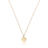 Gold Small Diamond Style Disc Necklace
