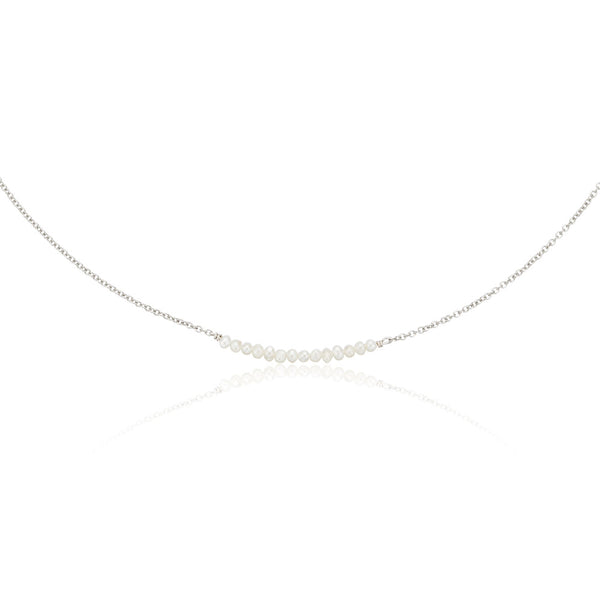 Silver Small Pearl Cluster Choker