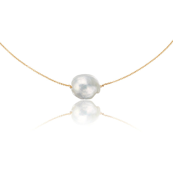 Gold Large Baroque Pearl Choker