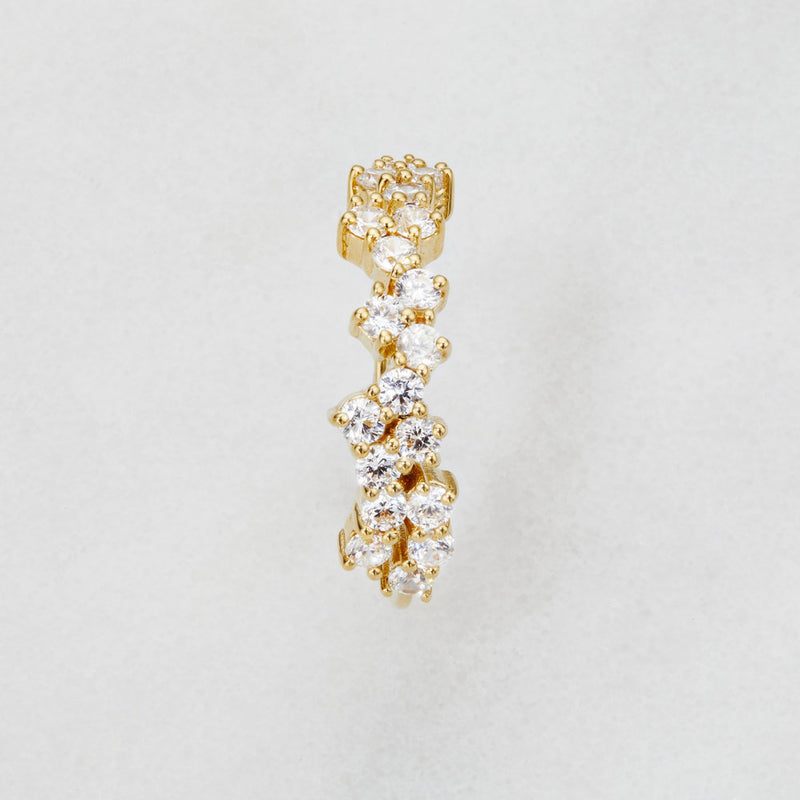 Gold Diamond Style Cluster Ring