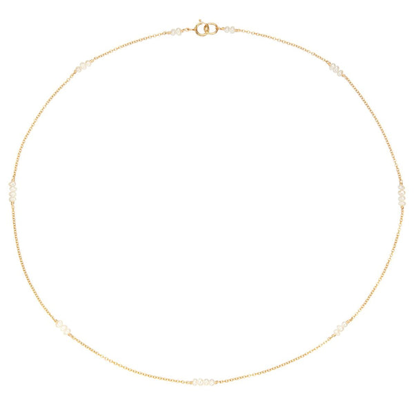Gold Mini Pearl Choker