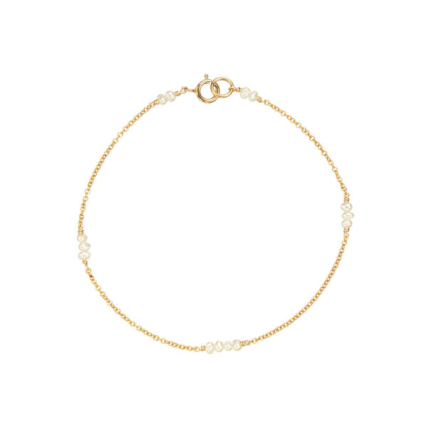 Gold Mini Pearl Bracelet