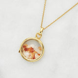 Gold Glass Gemstone Locket