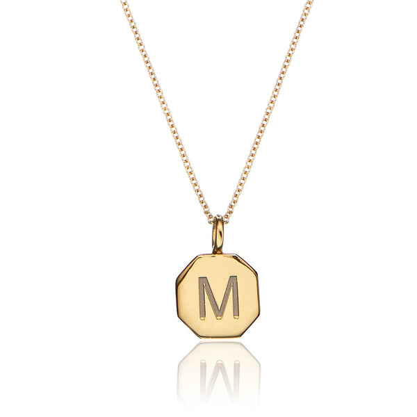 Gold Personalised Hexagon Necklace