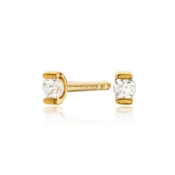Gold Small Diamond Style Studs