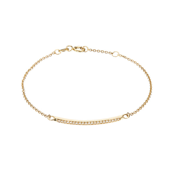 Gold Diamond Style Bar Bracelet