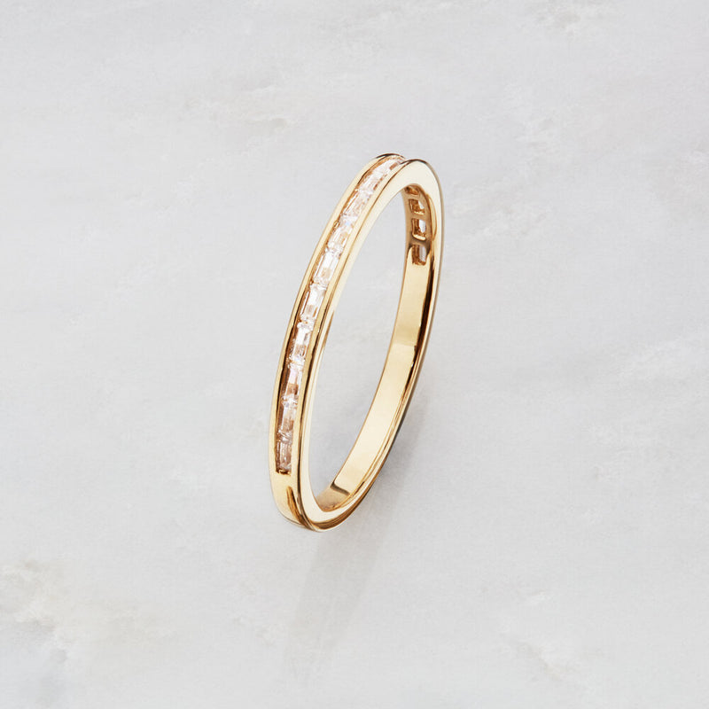 Gold Diamond Style Baguette Eternity Ring